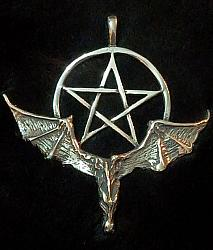 Flying Dragon Pentagram Pendant