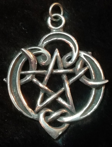 Crescent Moon Pentagram Pendant