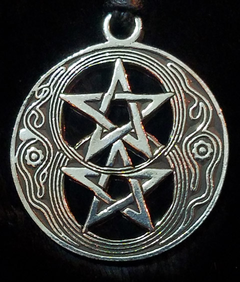 Witch's Double Pentagram Pendant