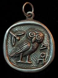 Owl of Goddess Athena Pendant
