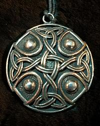 Celtic Cross Shield Pendant