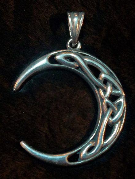 Celtic Crescent Moon Pendant