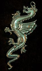 Large Gothic Dragon Pendant