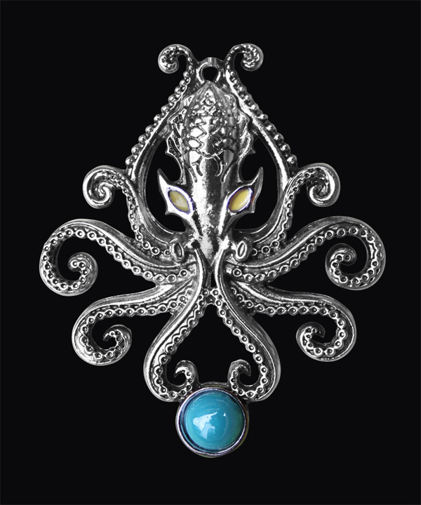 Kraken Sea Monster Pendant