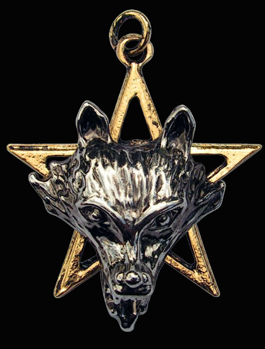 Night of the Wolf Pentagram Pendant