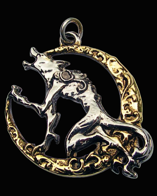Song of the Lycan Wolf Moon Pendant