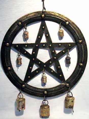 Brass Pentagram Wind Chime