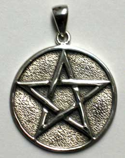 Interwoven Solid Sterling Pentagram Pendant