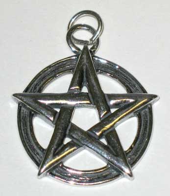 Bold Sterling Silver Pentagram Charm