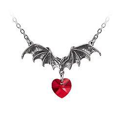 Alchemy Gothic Bat Vampire Loveheart Pendant