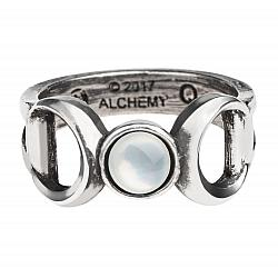 Alchemy Gothic Triple Goddess Moon Ring, Choose your Size