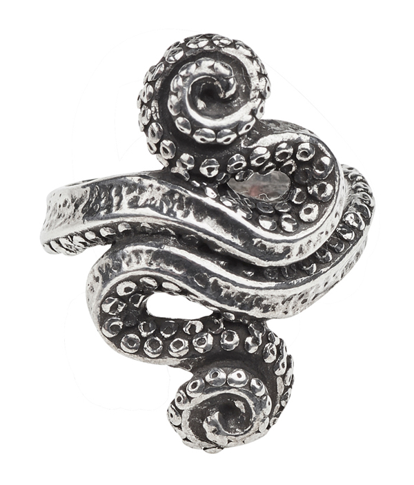 Alchemy Gothic Kraken Ring, Choose your Size