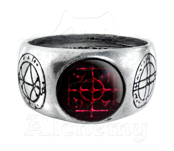 Alchemy Gothic Agla Magical Talismans Protection Ring