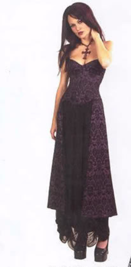 Lip Service Velvet Gothic Quoth The Raven Purple Gown