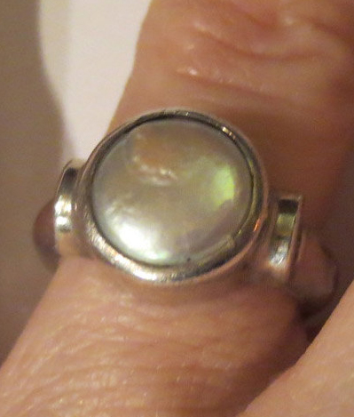Vintage Cultured Pearl Ring Sterling Silver Handmade JGD Size 5