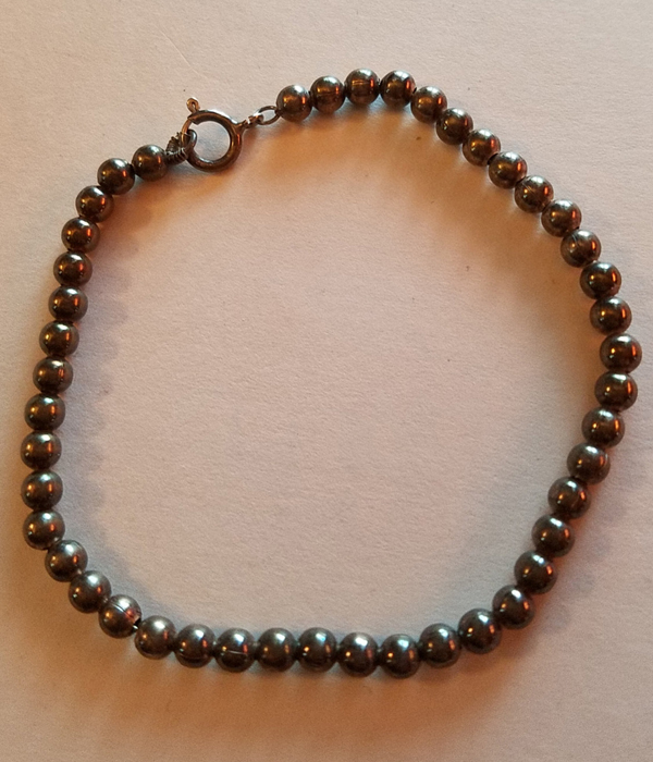 Vintage Sterling Silver Beaded Bracelet 7.5 inches