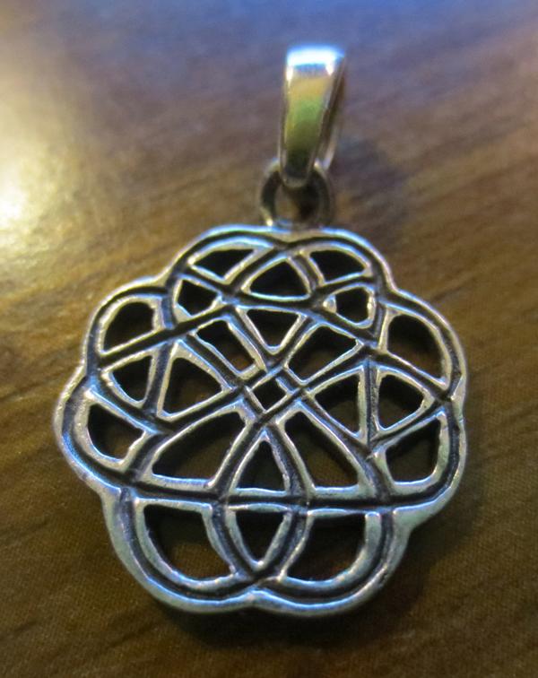 Vintage Sterling Silver Celtic Knot Pendant