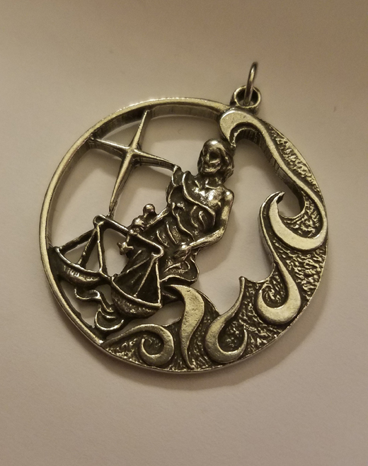 Libra Scales Pendant Zodiac Astrology, Lead Free Pewter