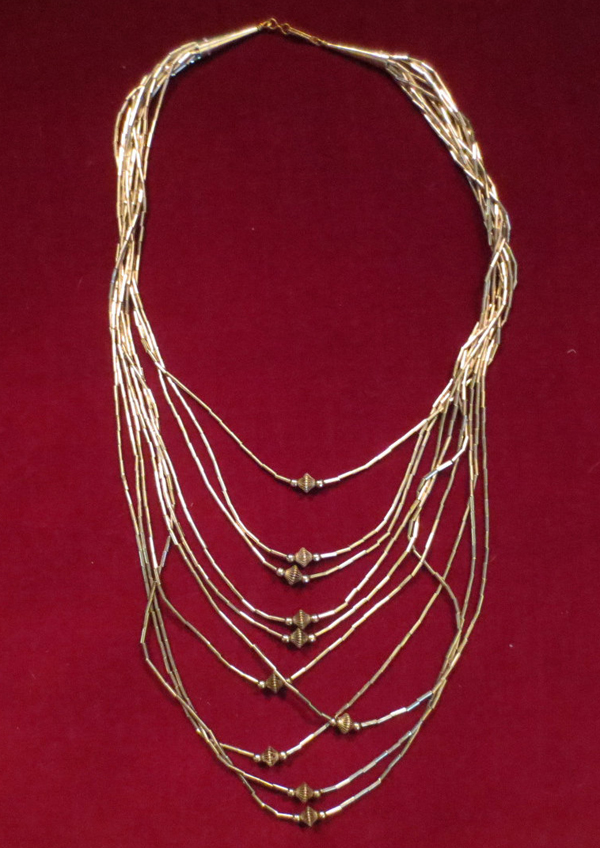 Vintage Silver Beaded Multi Strand Chain Layering Necklace