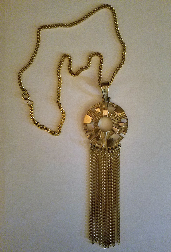 Vintage 1960's Goldtone Tassel Pendant Necklace, Sarah Coventry