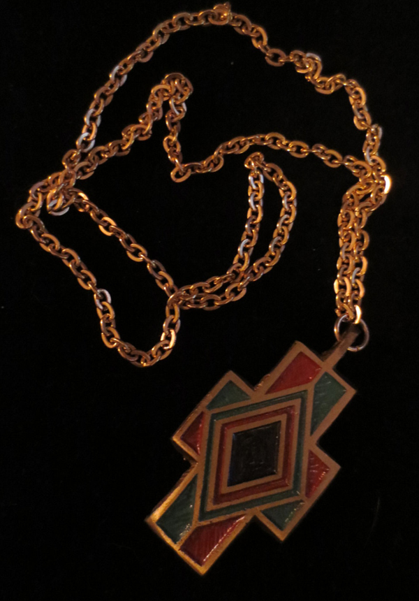 Vintage 1960's Matthew 613 Prayer Cross Pendant Goldtone Necklace