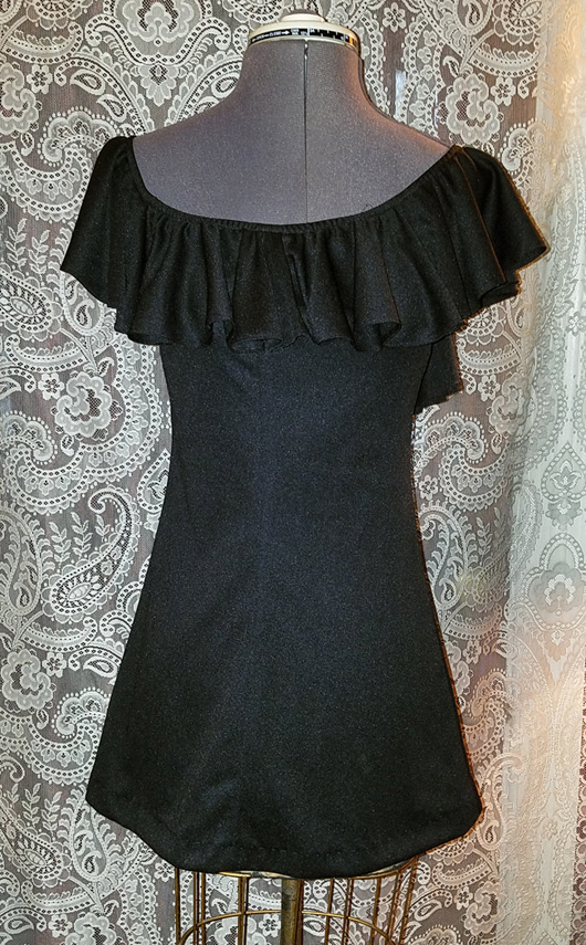 Vintage 1970's Allegro NY Ultra Mini Dress XS Small Witchy