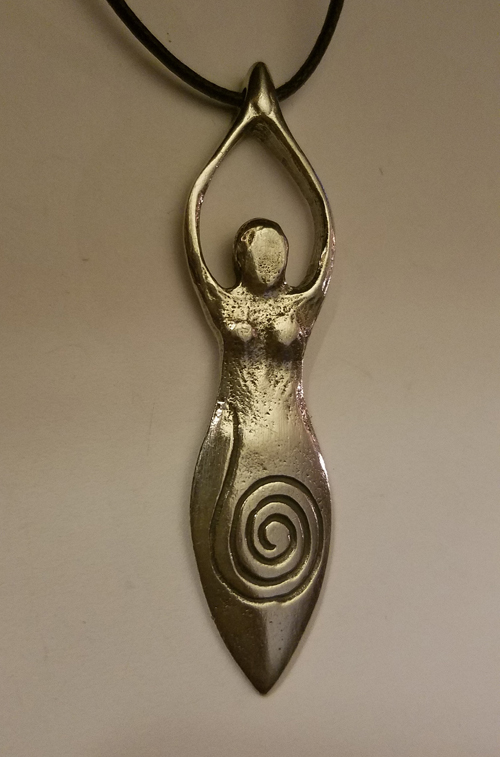 Wiccan Sacred Goddess Pendant Spiral Ritual Amulet