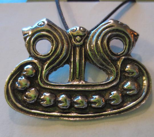 Viking Ship Pendant Celtic Odin Norse Pewter Charm